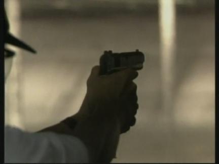 USA: CHARLTON HESTON SWORN IN AS GUN RIGHTS GROUP PRESIDENT