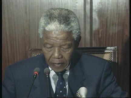 Tunisia - Mandela On Rwanda At His OAU Debut
