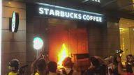HK Fire Starbucks Causeway Bay