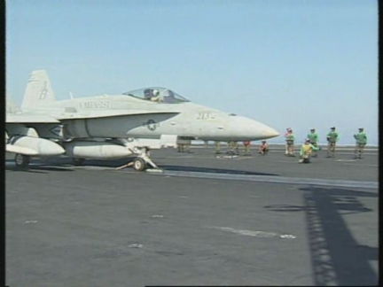 PERSIAN GULF: ON BOARD THE AIRCRAFT CARRIER USS WASHINGTON