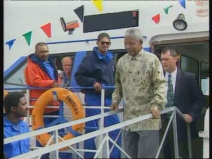 SOUTH AFRICA: NELSON MANDELA VISITS JAIL WHERE HE SERVED 27 YEARS