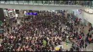 HK Airport Sit-in Day One 2