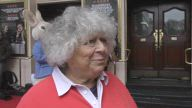 Miriam Margolyes is too busy to appear on Real Marigold on Tour buts hints at more episodes at a celebrity gala performance of stage show 'Where is Peter Rabbit?' at Theatre Royal Haymarket in London, UK.