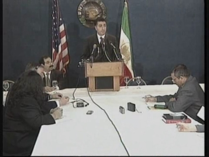 USA: THE SON OF LATE SHAH OF IRAN PRESS CONFERENCE