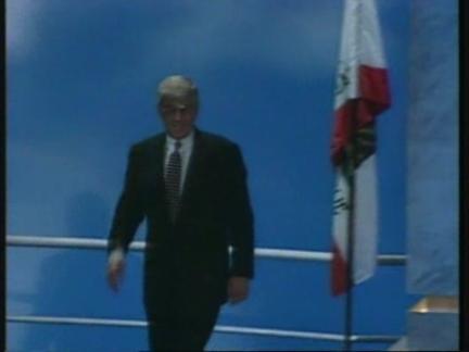 USA: SAN DIEGO: REPUBLICAN CONVENTION: JACK KEMP SPEECH