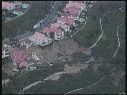 USA - Hillside collapses
