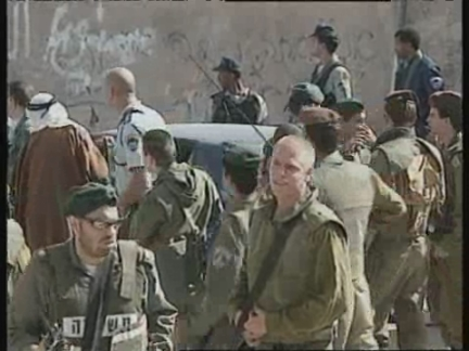 MIDDLE EAST: PEACE TALKS CONTINUE: ARRESTS AFTER DISPUTE IN HEBRON
