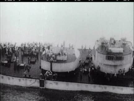 WORLD WAR NAVAL SCENES and OTHER MATERIAL - NO SOUND