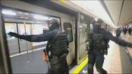 HK Riot at Train Station
