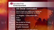 Entertainment US Oscar nominated