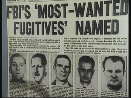 "USA: WASHINGTON: FBI ""TEN MOST WANTED"" LIST"