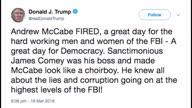 US Trump McCabe Tweet