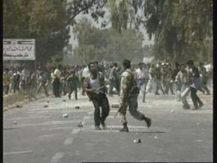 Gaza/West Bank - Demonstrations turn violent