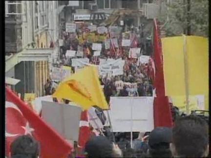 TURKEY: PROTESTS AGAINST KURDISH LEADERS ARREST IN ROME