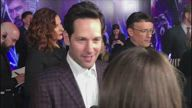 Paul Rudd answering questions at the fan event for 'Avengers: Endgame'