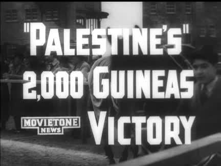 """PALESTINE"" 2,000 GUINEAS VICTORY"