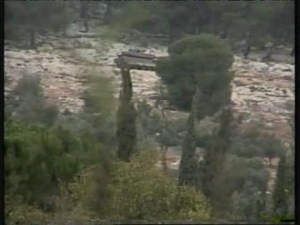 Middle East West Bank Jenin Tanks