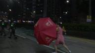 Hong Kong Protest Woman Confrontation
