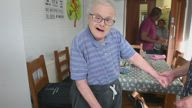 Man with Down's syndrome celebrates 77th birthday