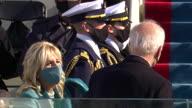 US Inauguration Biden Harris Pence Depart