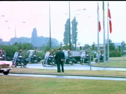 PRESIDENT NIXON VISITS NATO HEADQUARTERS - NO SOUND - COLOUR