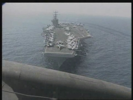 Off Kuwait - USS Abraham Lincoln Steams Into Gulf