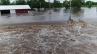 US KS Flooding Drone (CR) | AP Archive